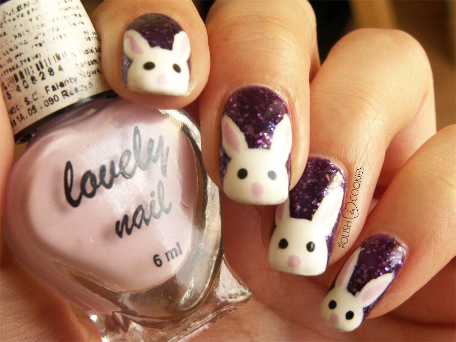 paznokcie z królikiem