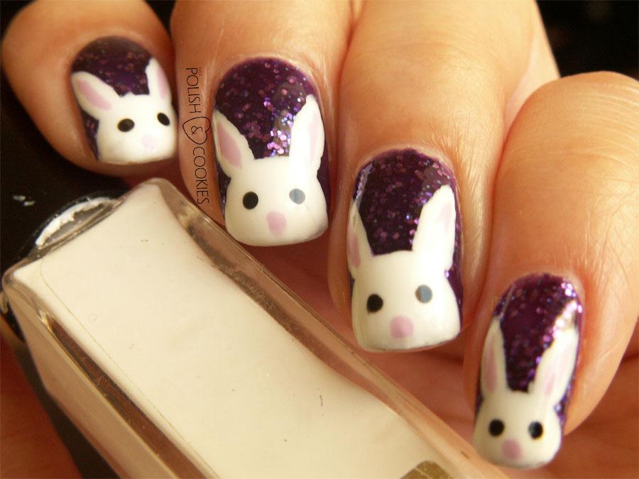 paznokcie z zajączkiem