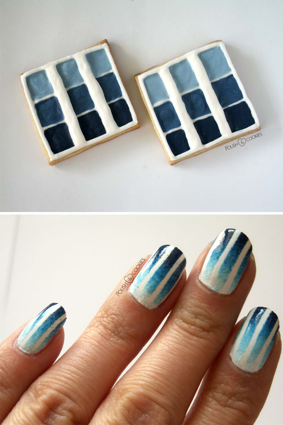 mix blue ombre