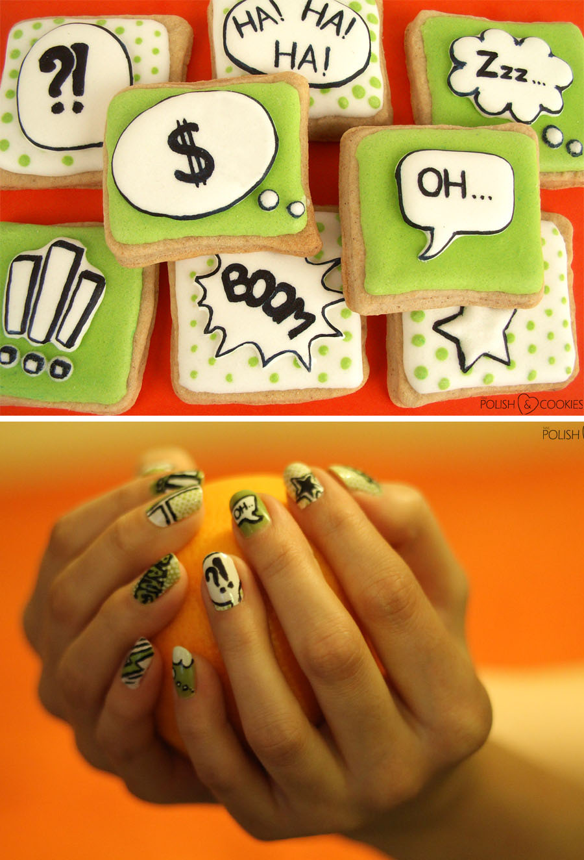 ciasteczka i paznokcie