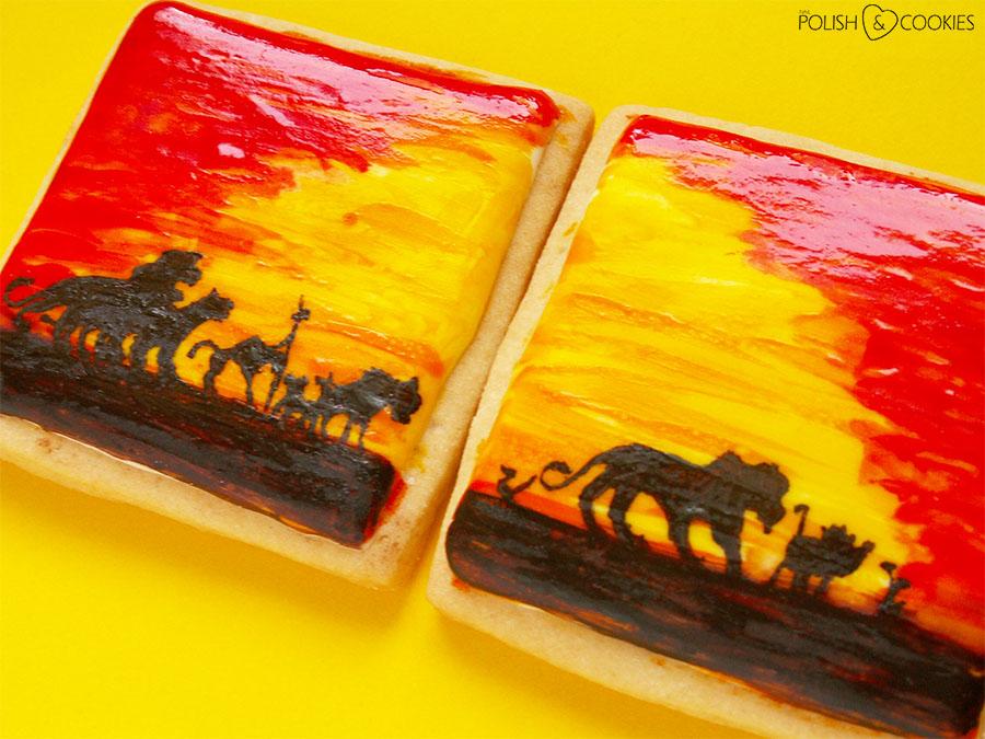 Król Lew ciasteczka malowane