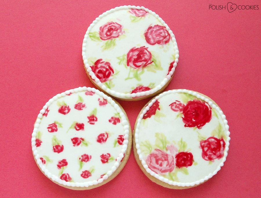 Różane ciasteczka