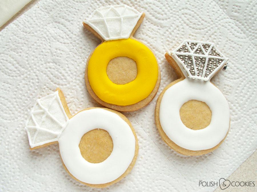 Pierścionki zaręczynowe - ciasteczka
