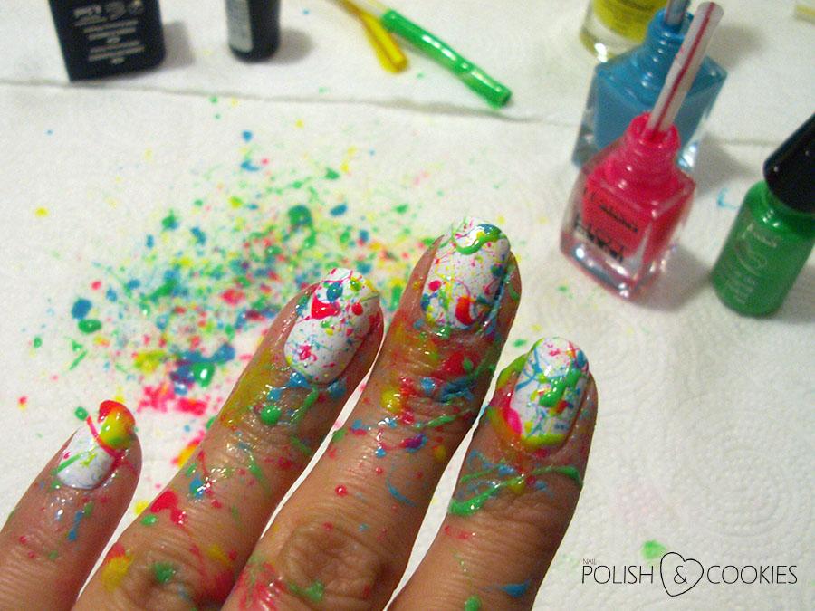 Splatter paznokcie