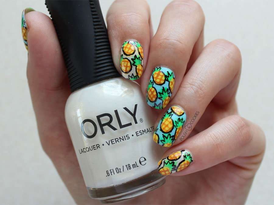 Pineapple Nails TUTORIAL ananas ananasy paznokcie
