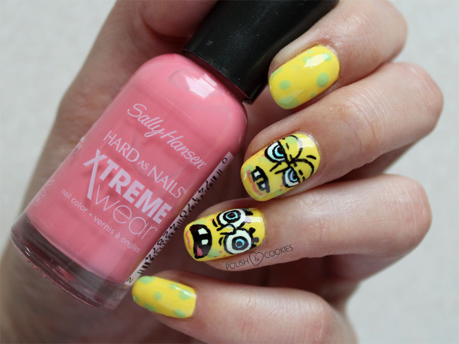 Sponge Bob Nails Nail art TUTORIAL paznokcie