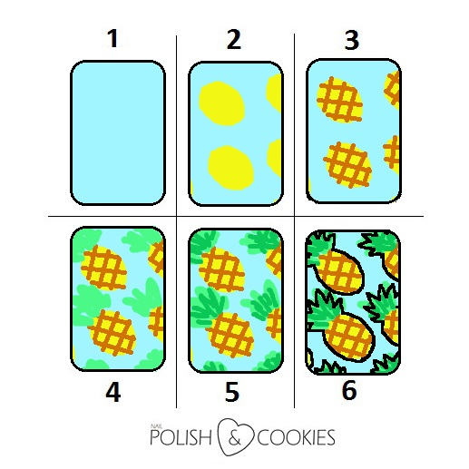 Pineapple Decorated Cookies Tutorial ananasy ciasteczka