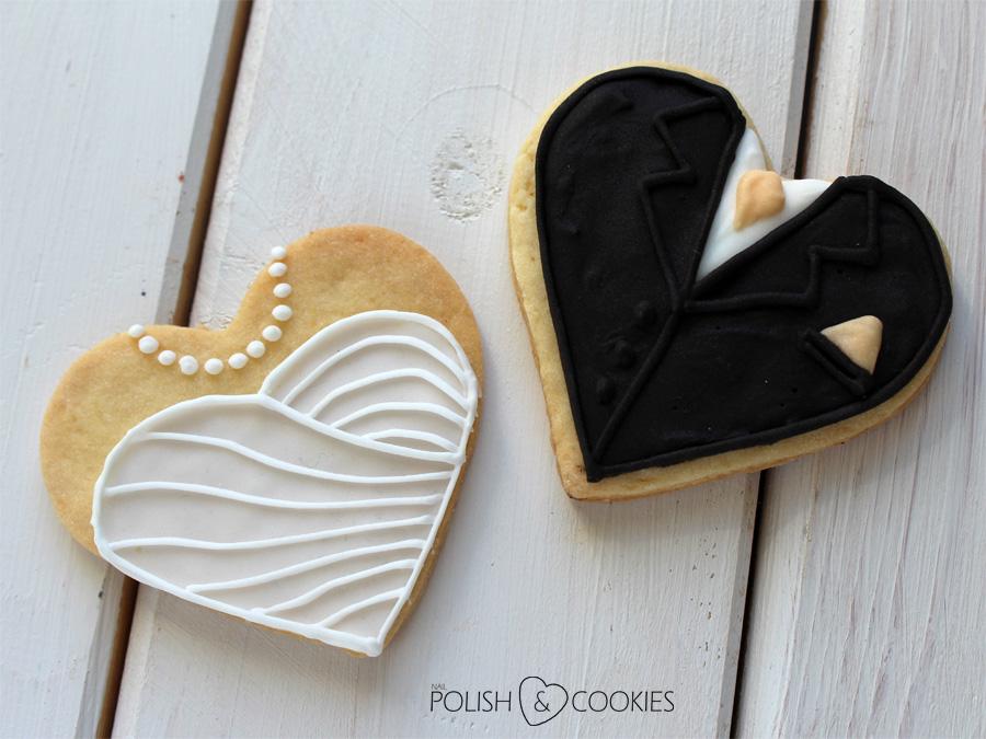 ciasteczka ślubne para młoda