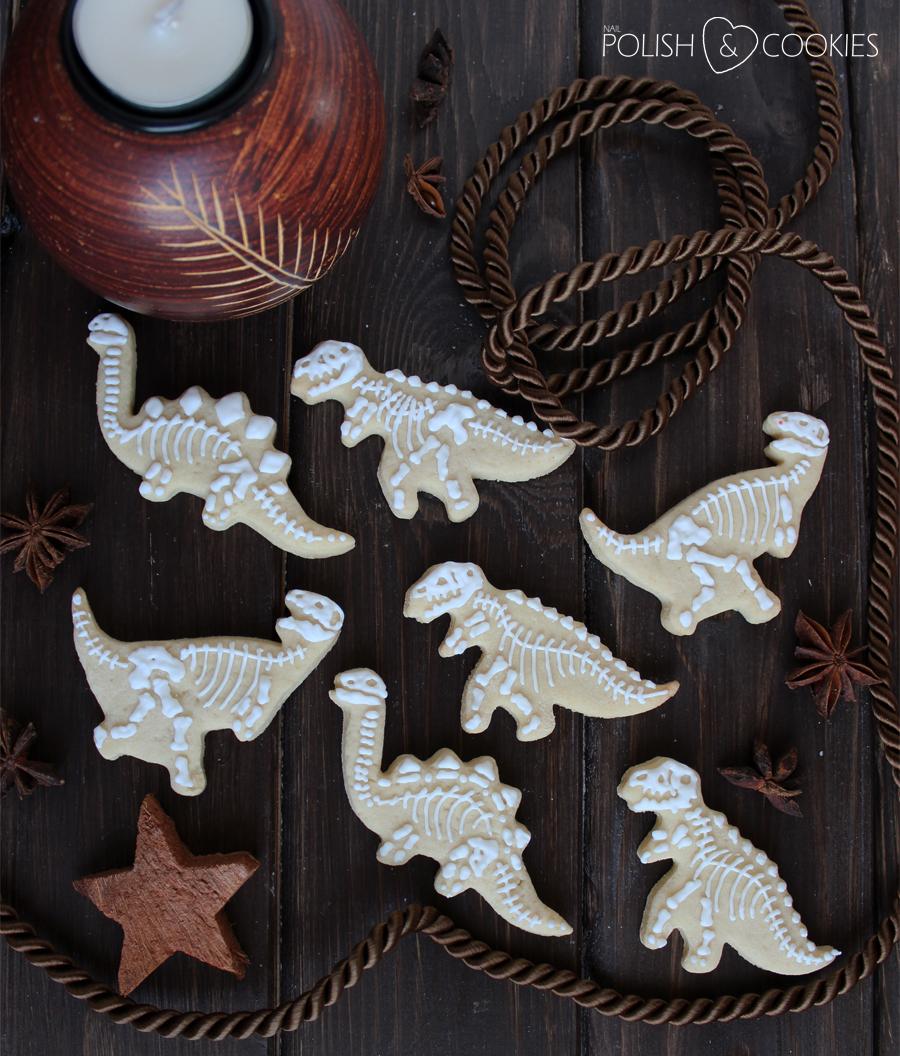 lukrowane ciasteczka kruche dinozaury