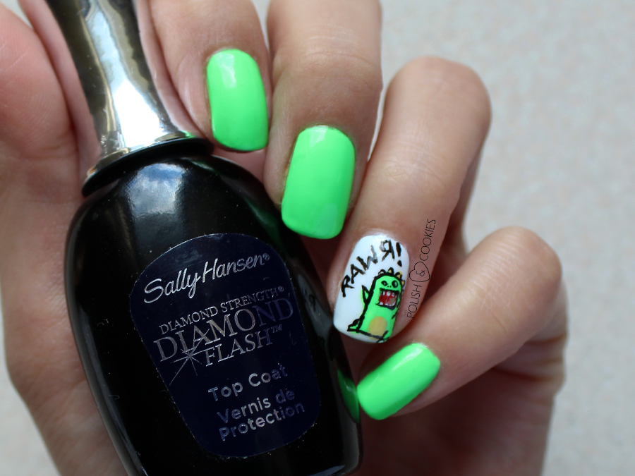 sally hansen diamond top coat paznokcie