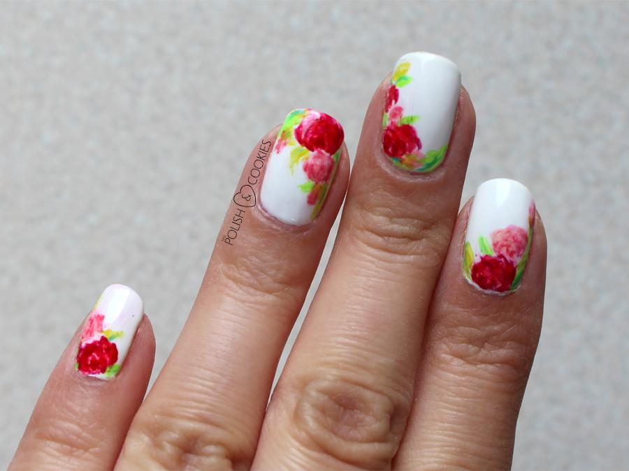 paznokcie kwiaty