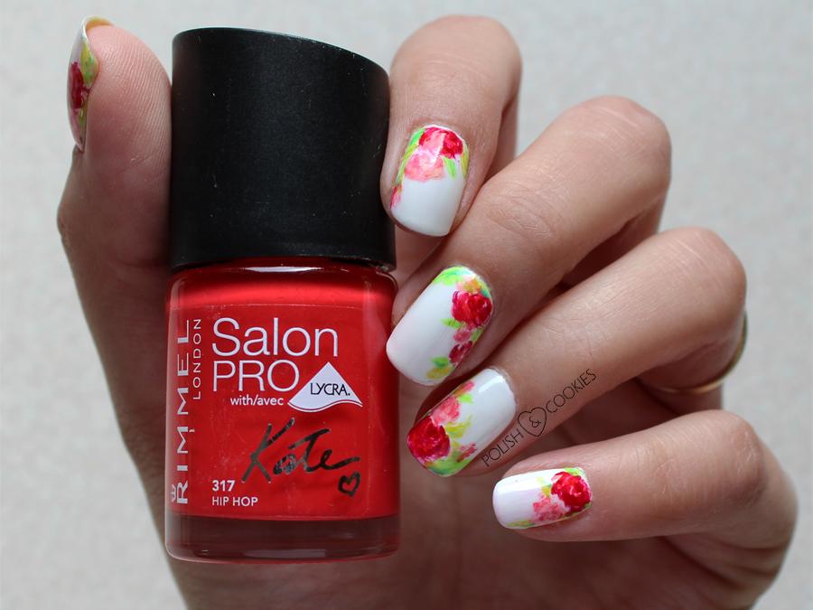 paznokcie róże malowane