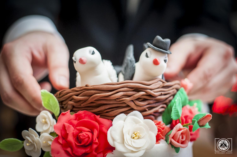 czubek tortu ptaszki