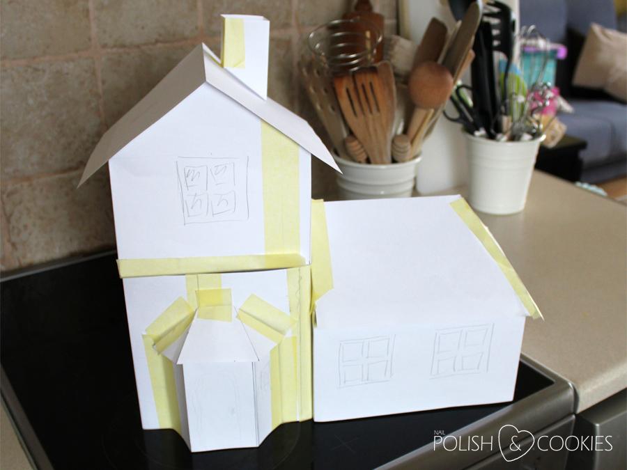 darmowy szablon domku z piernika dwie wersje
