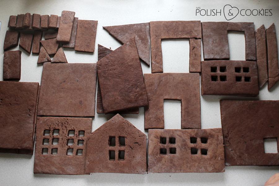 darmowy szablon do pobrania domku z piernika dwie wersje