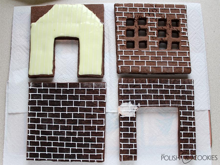 cegły mur wzór z lukru jak zrobić na domku z piernika