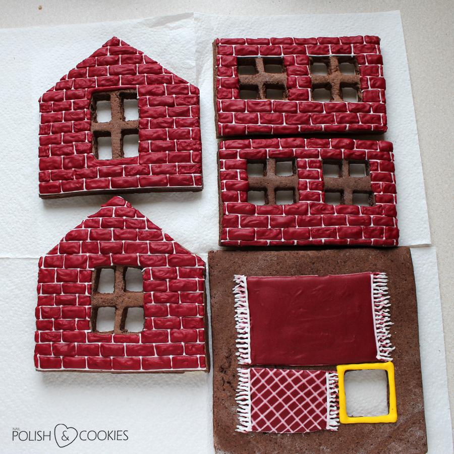 mur cegły wzór z lukru jak zrobić na domku z piernika