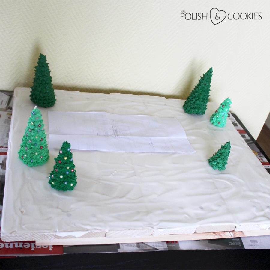 jak zbudować domek z piernika otoczenie choinki