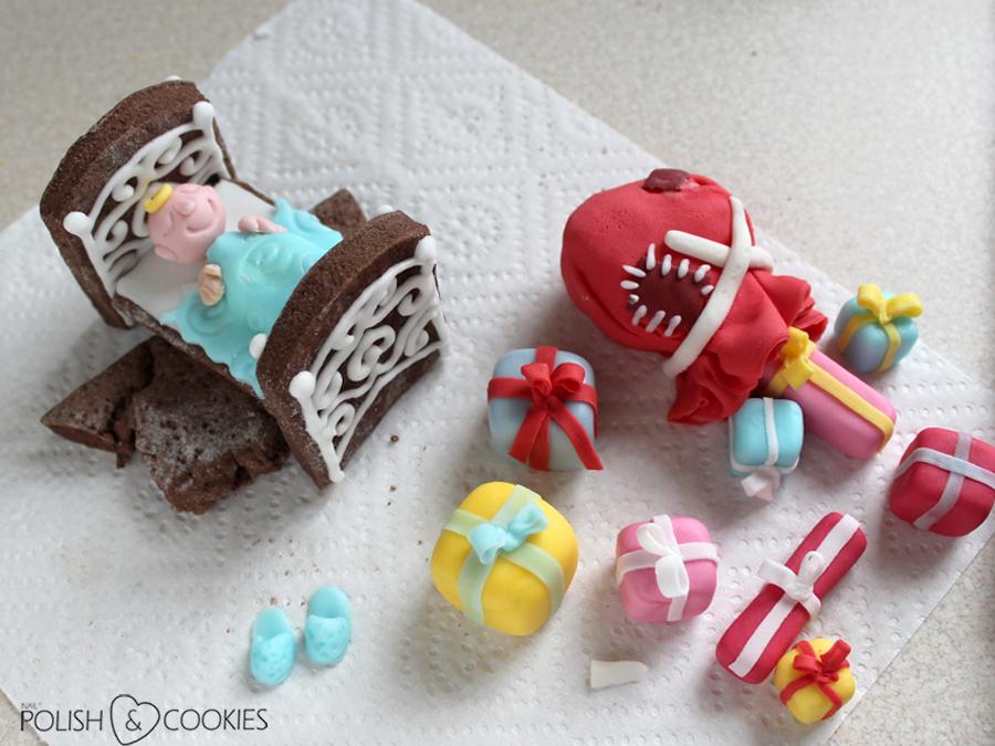 ciasteczka pierniczki meble jadalne prezenty z masy cukrowej
