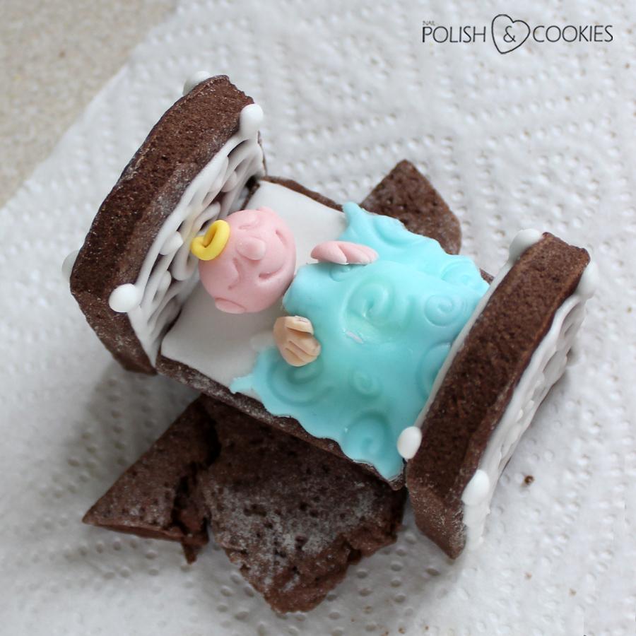 łóżeczko z piernika z dzieckiem ciasteczka instrukcja