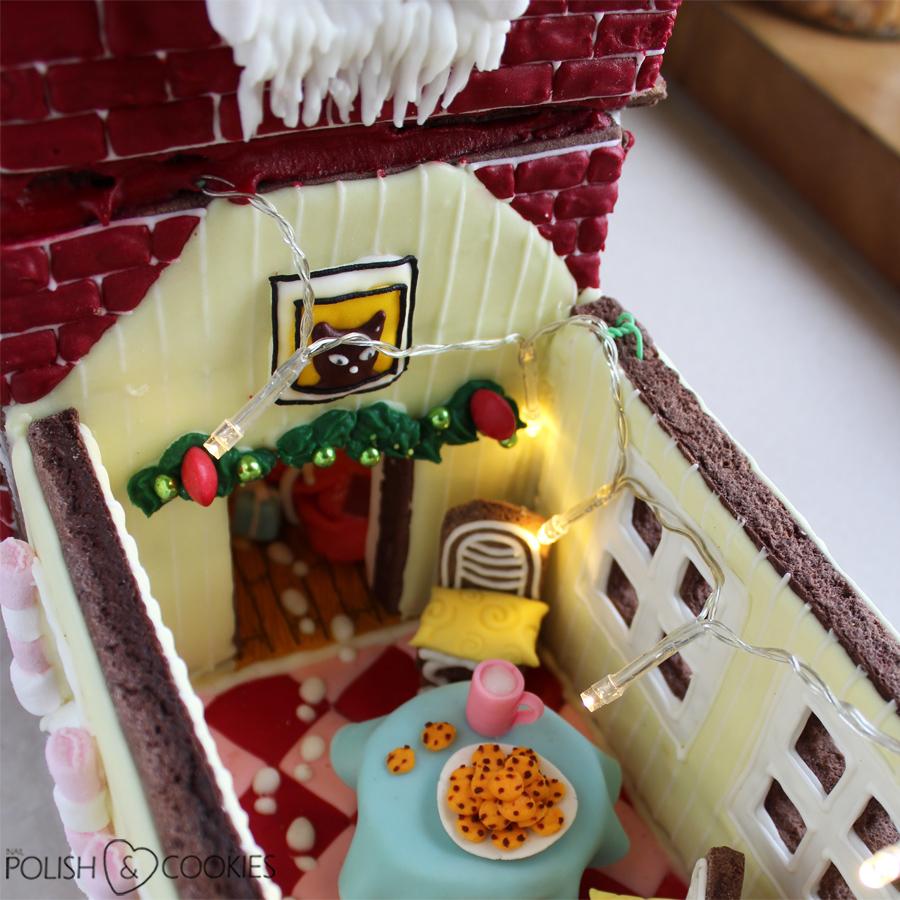 oświetlenie domku z piernika żarówki led