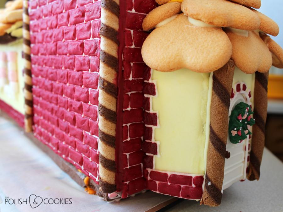 domek z pierika ściany z cegły lukrowane