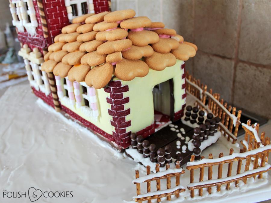 Domek z piernika instrukcja jak zrobić dach