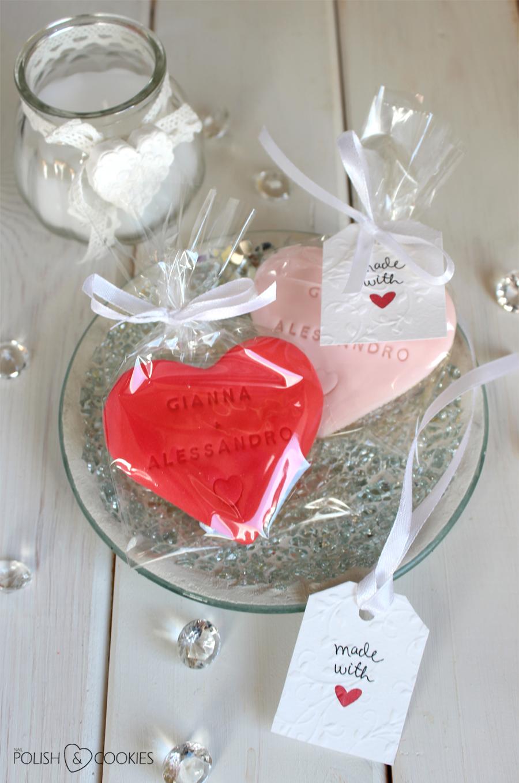 eleganckie ciasteczka weselne serca