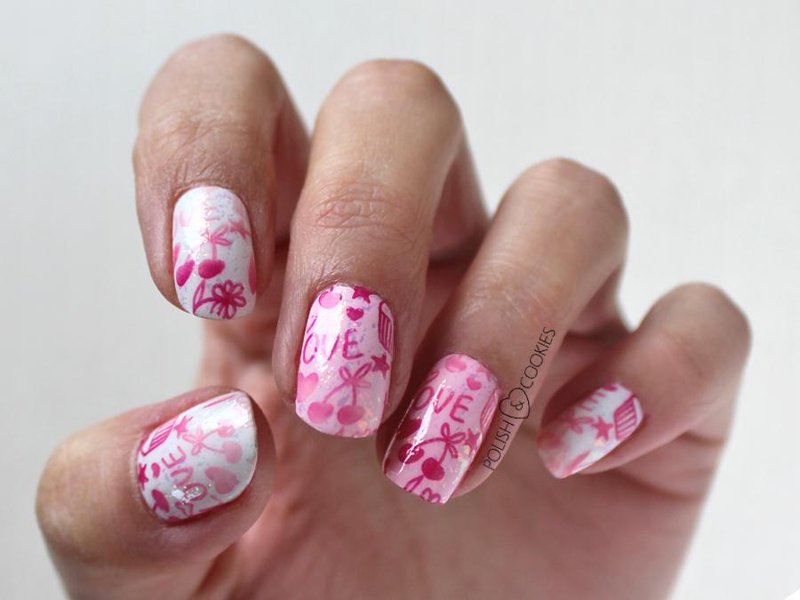 wzorki na paznokcie ombre stempelki stemple