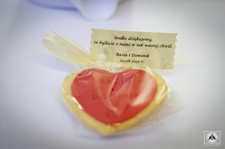 ciasteczka serduszka na wesele