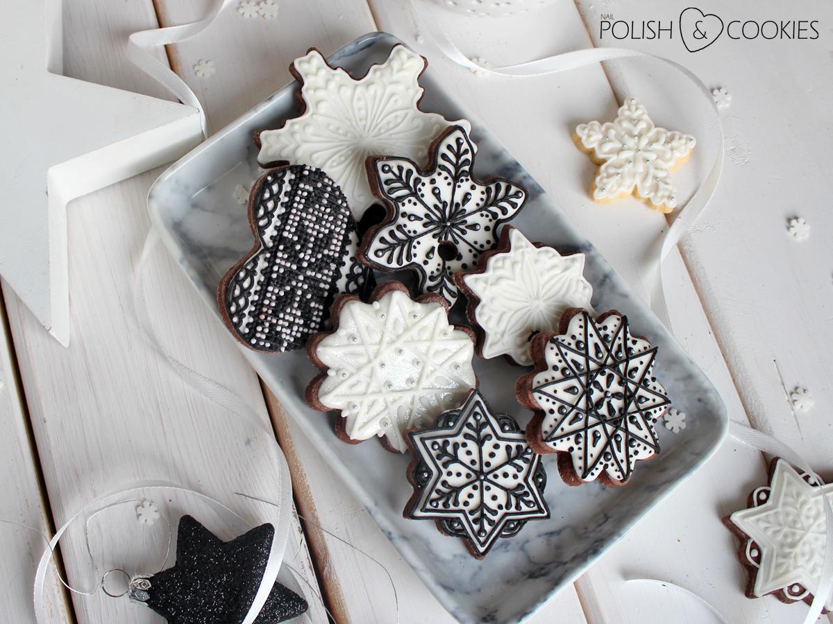 ciasteczka pierniczki świąteczne pomysł czarny lukier