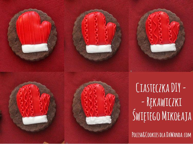 jak zrobić ciasteczka rękawiczki sweterkowy wzór tutorial instrukcja