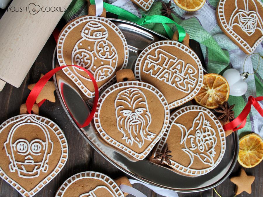 pierniczki star wars gwiezdne wojny chewbacca yoda joda logo ciasteczka lukrowane