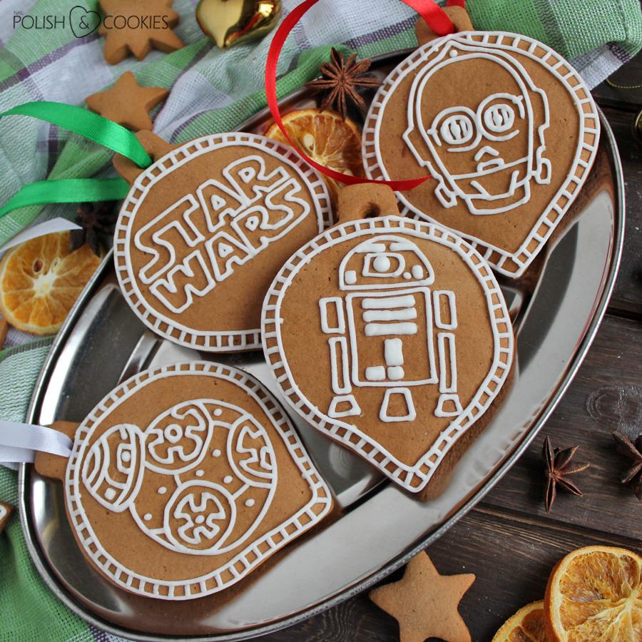 ciasteczka star wars logo bb-8 c3p0 r2d2 ciastka piernik pierniczki