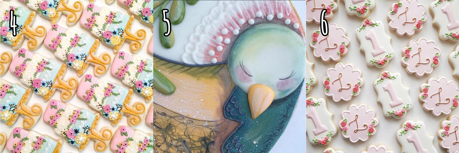 cukiereczki ciasteczka kolorowe dekorowane lukrem ptaszki