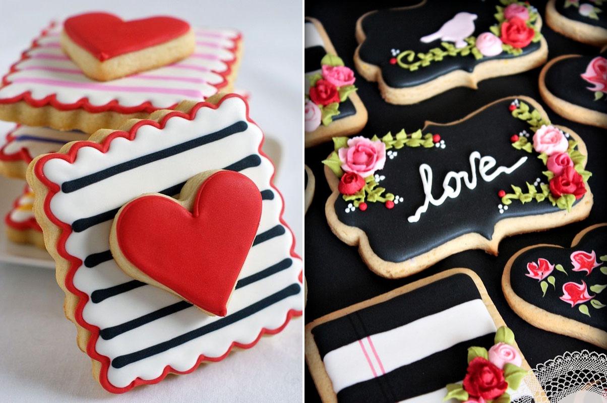 Ciasteczka na prezent dla gości weselnych ślubne marynarskie serduszka z różami love
