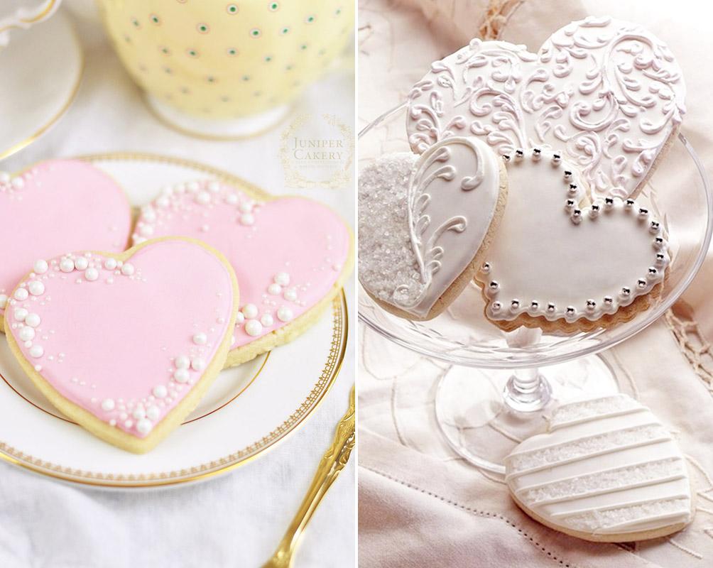 Ciasteczka z perełkami dla gości weselnych na prezent ślub białe różowe