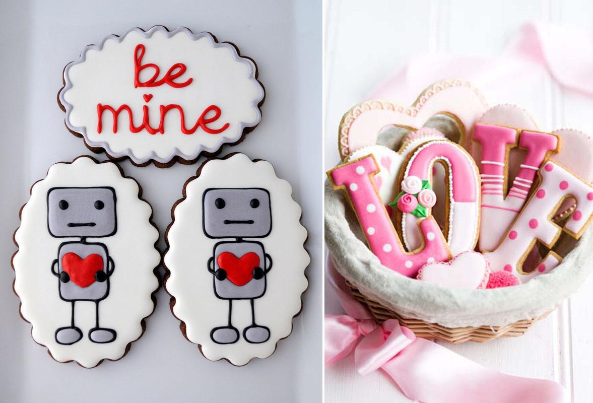 Ciasteczka dla gości na prezent weselnych ślubne love różowe białe