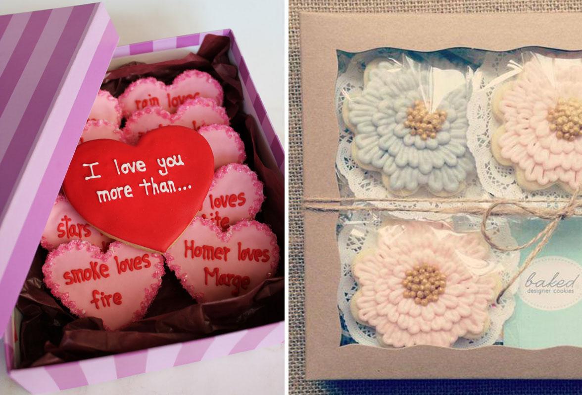 zestaw ciasteczek dla gości weselnych ślubnych ciasteczka