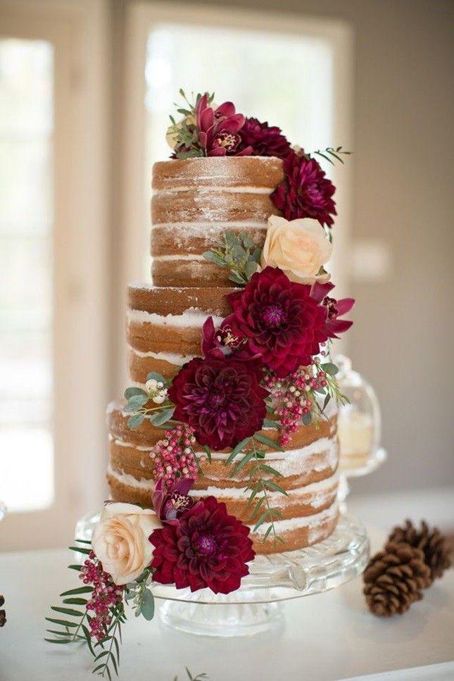 tort bez kremu tort nagi z kwiatami