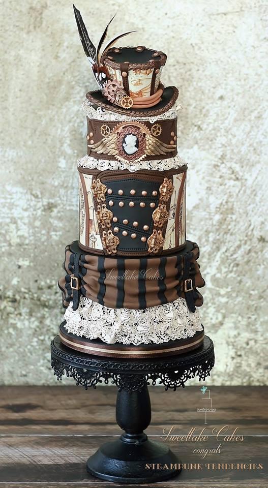 tort steampunk gotycki nietypowe torty weselne