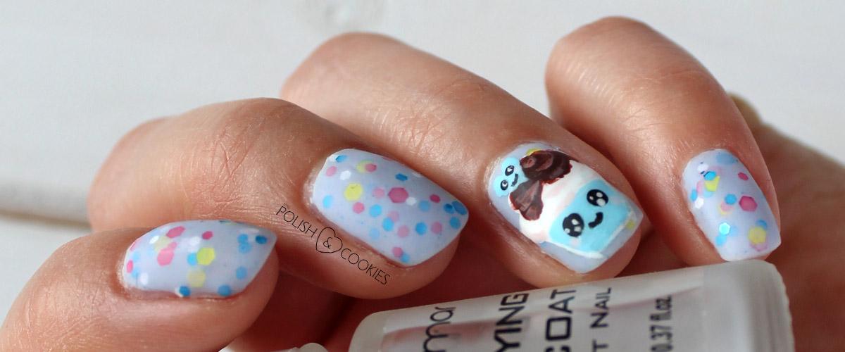 paznokcie cupcake babeczki urocze kawaii tutorial