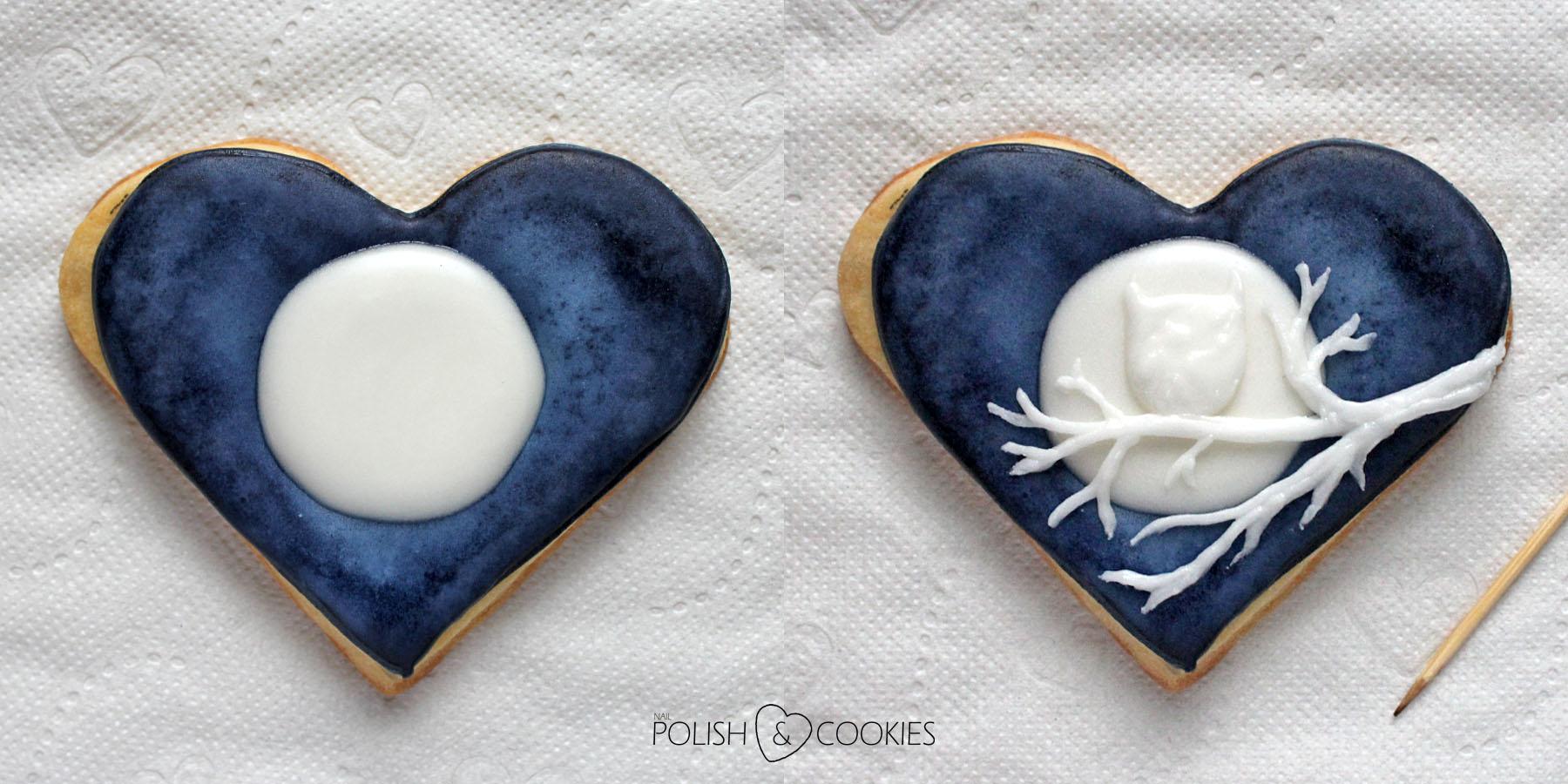 ciasteczka ombre malowane gąbką