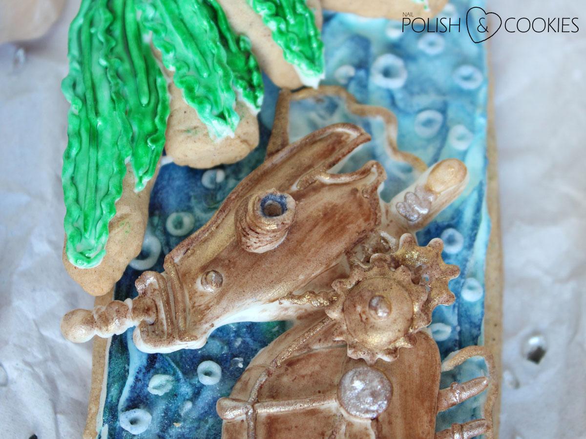 Ciasteczko konik morski zblizenie