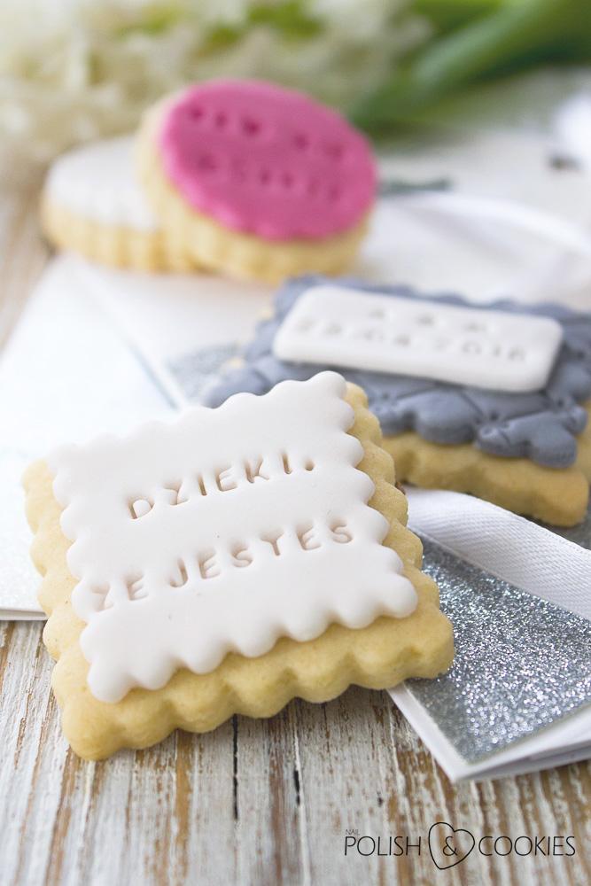 ciasteczka z napisami