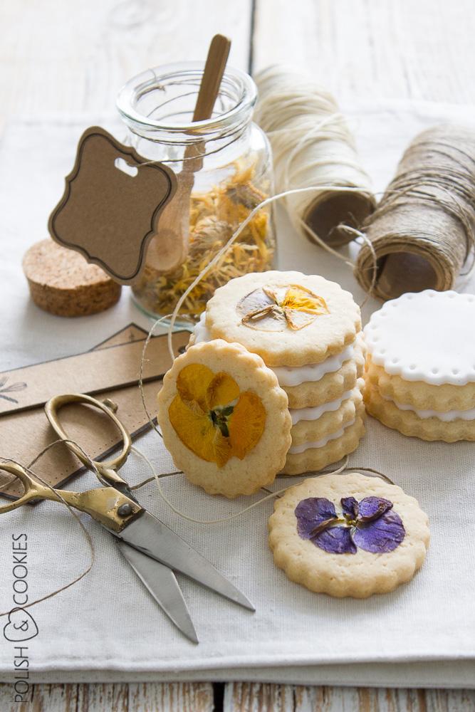 kwiaty jadalne ciastka