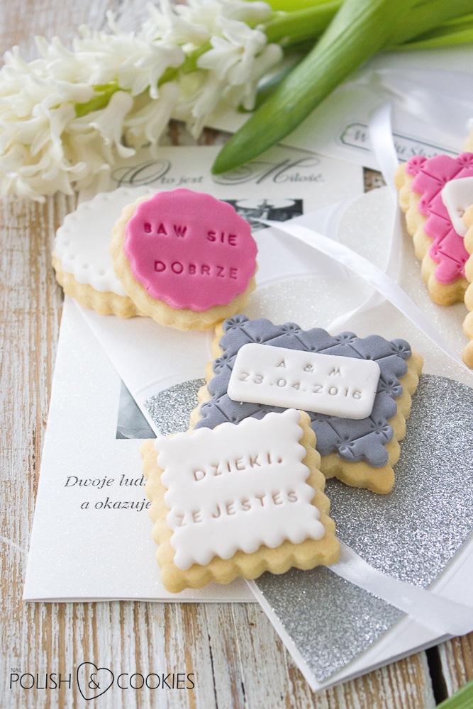 ciastka ślubne