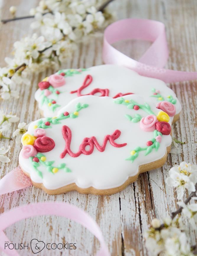 ciasteczka ślubne z napisem