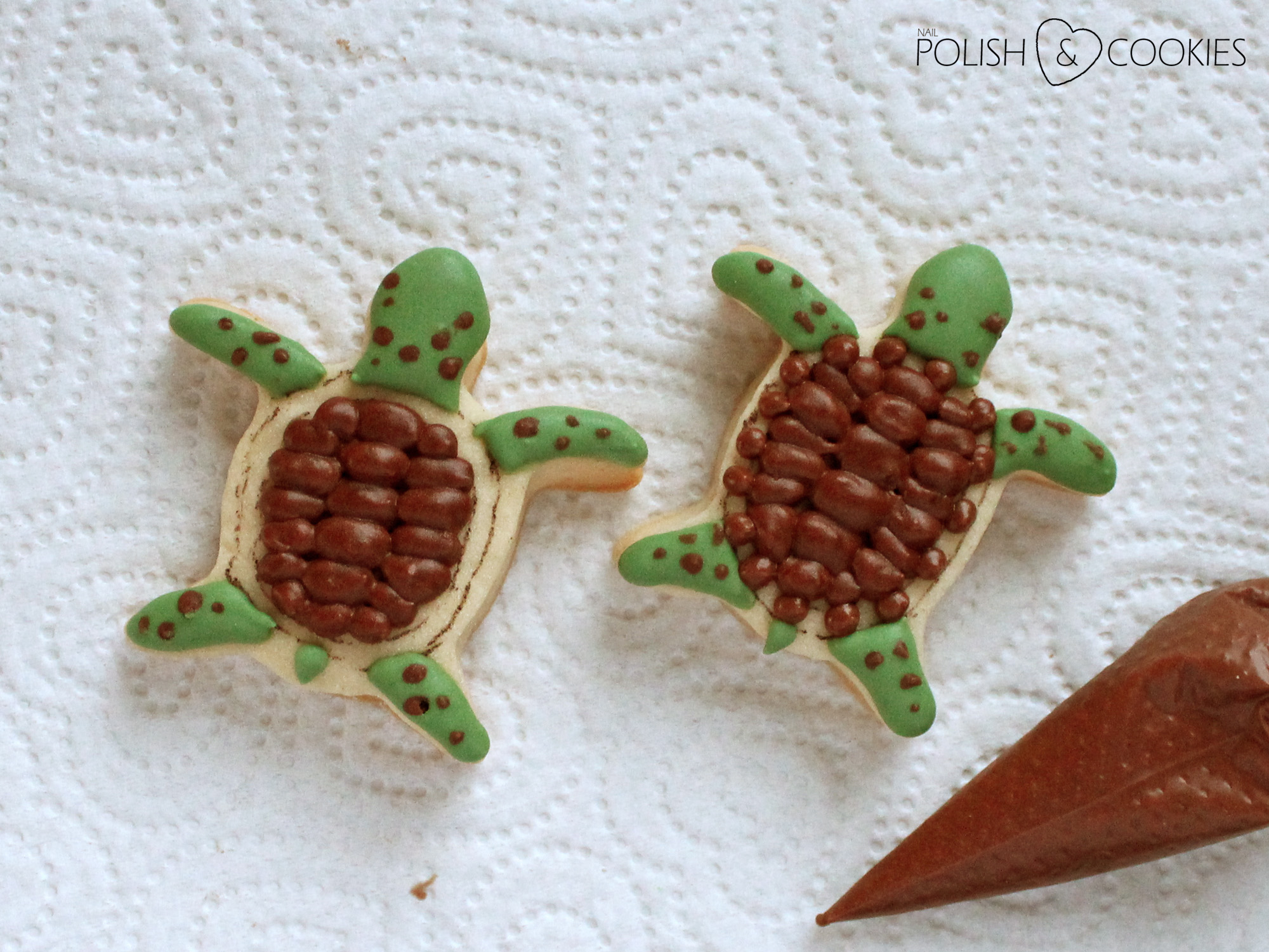 turtle cookies tutorial