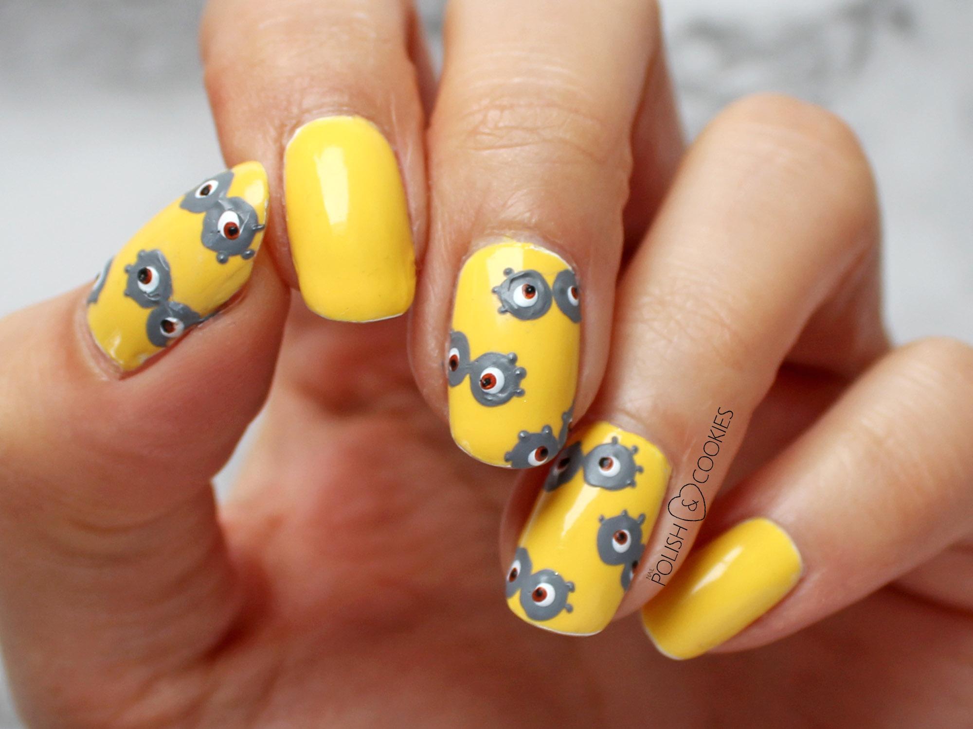 paznokcie minionki
